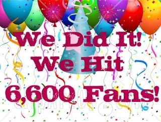 We Did it! We Hit 6,600+ Fans! Now Come Celebrate With us!