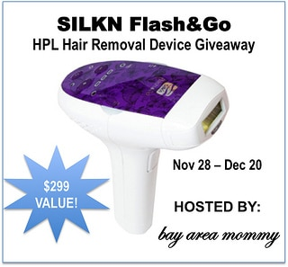 Silkn Flash&Go HPL Removal Device Giveaway! 11/28-12/20