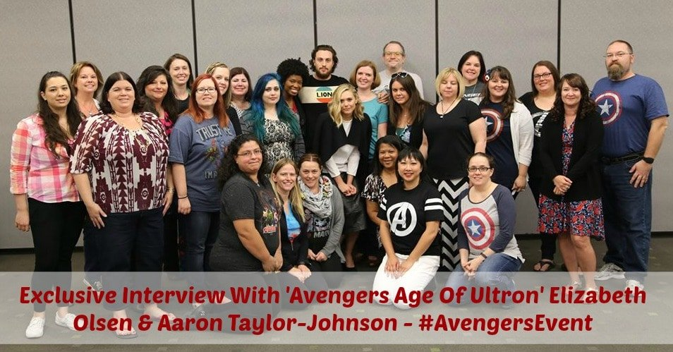 "Exclusive Interview With ""Avengers Age Of Ultron' Elizabeth Olsen & Aaron Taylor-Johnson – #AvengersEvent"