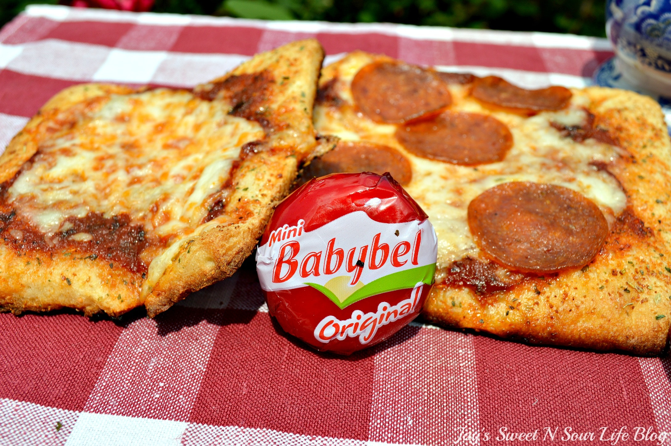 Mini Babybel Pizza
