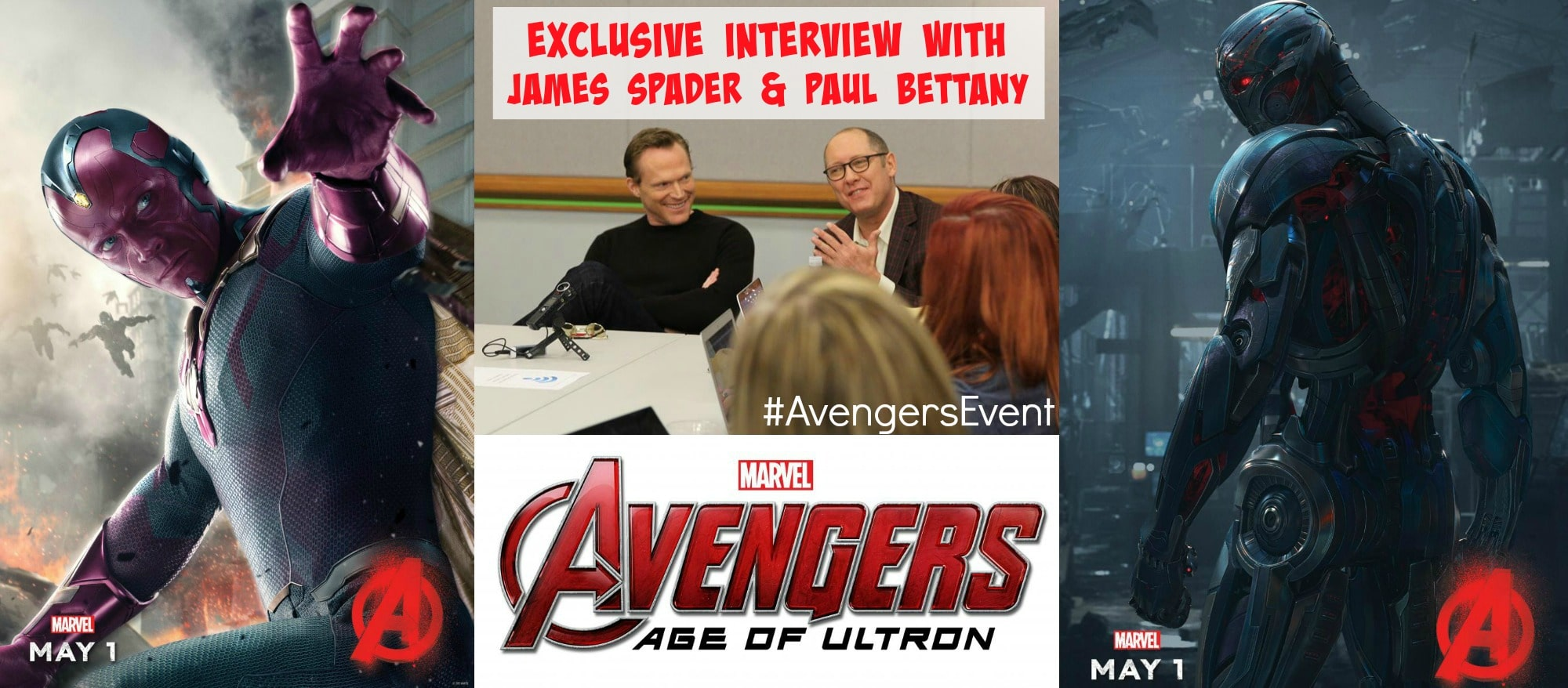 Exclusive Interview With 'Avengers Age Of Ultron' James Spader and Paul Bettany – #AvengersEvent