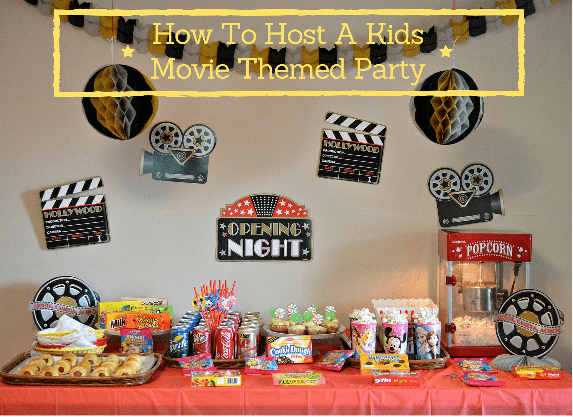 How To Host A Kids Movie Themed Party
