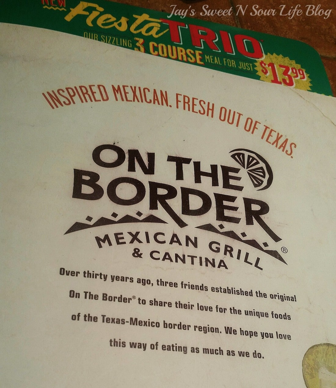 Enjoy a family dinner night out at your local On The Border Mexican Grill and Cantina. See all of the new delicious foods they offer along with my family's favorite dishes.