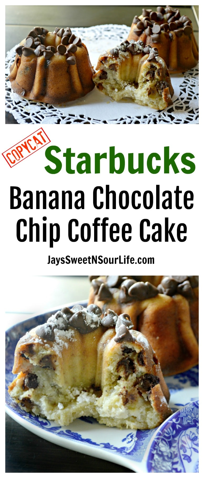 Try this easy to make Copycat Starbucks Banana Chocolate Chip Coffee Cake Fill your home with the smell of this delicious coffeehouse treat.