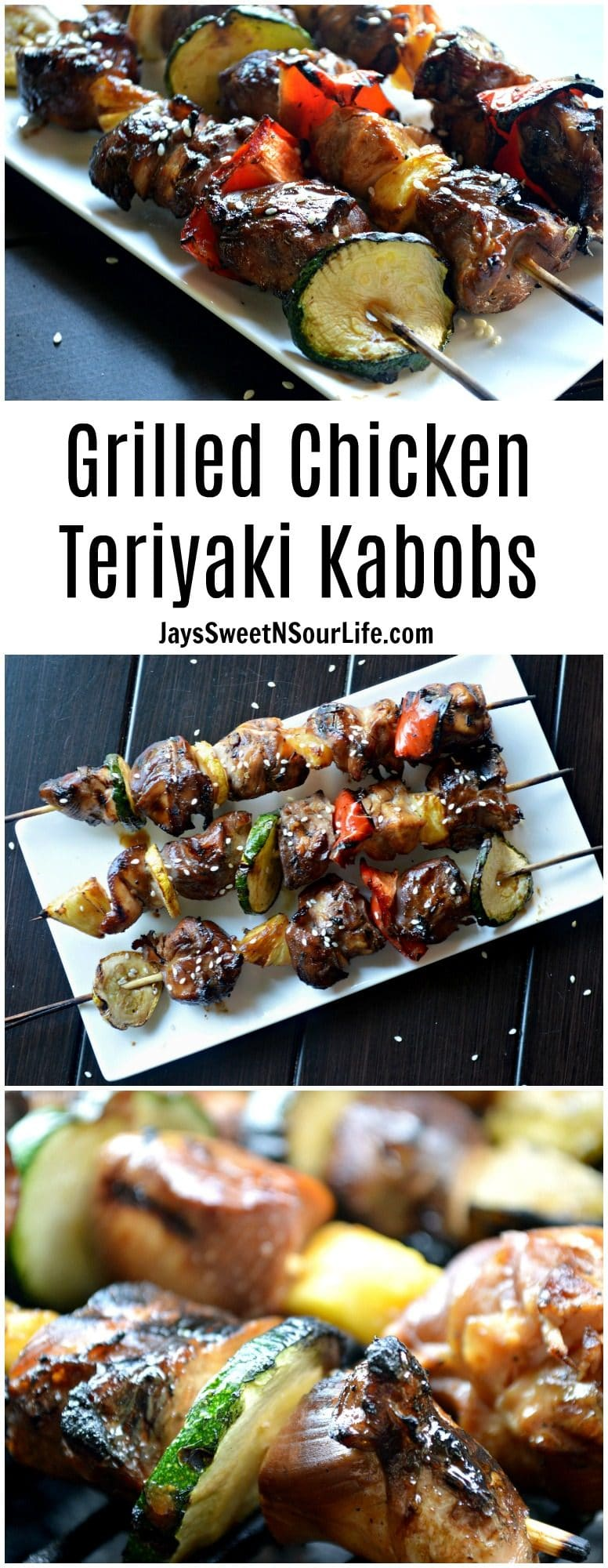 Spice up your backyard BBQ with this Grilled Chicken Teriyaki Kabobs recipe. Easy to make and oh so delicious.
