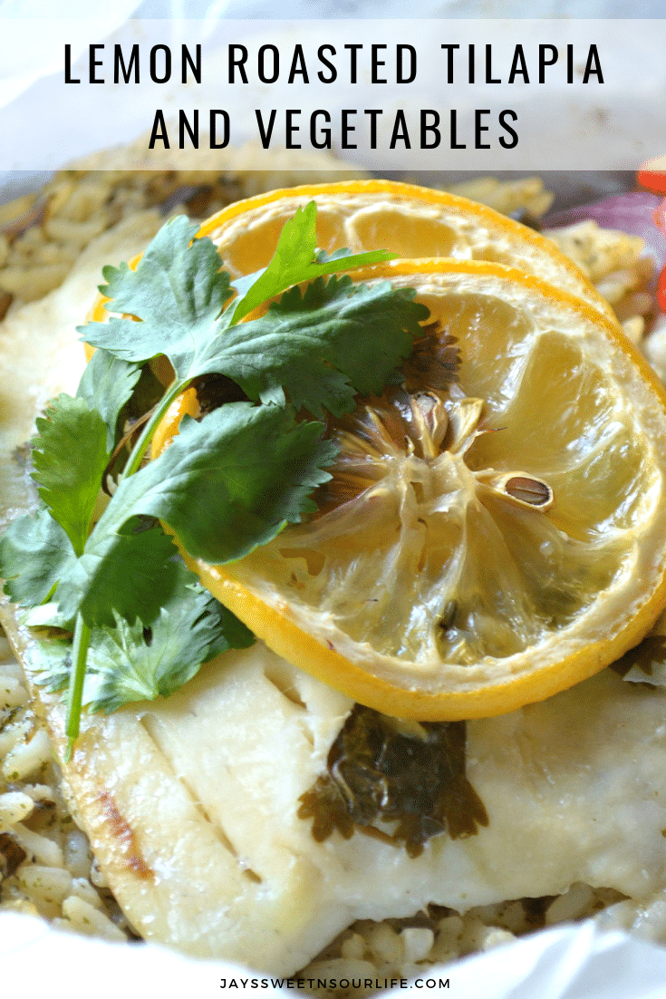 Lemon Roasted Tilapia and Vegetables. Dinner for two has never been so easy and delicious. This Fresh Lemon Roasted Tilapia and Vegetables are full of fresh flavor and spices.