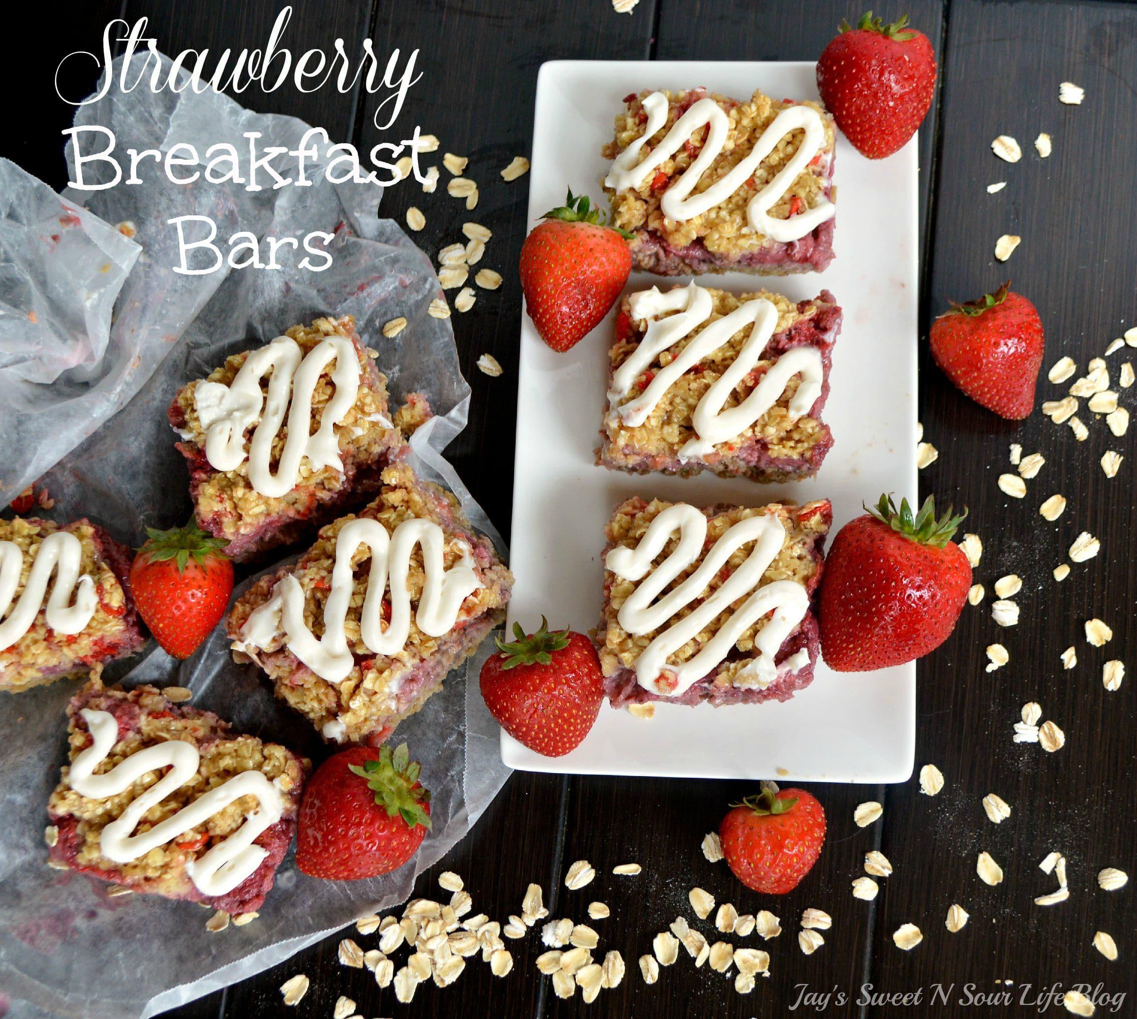 Strawberry Breakfast Bars – Back To School Fuel