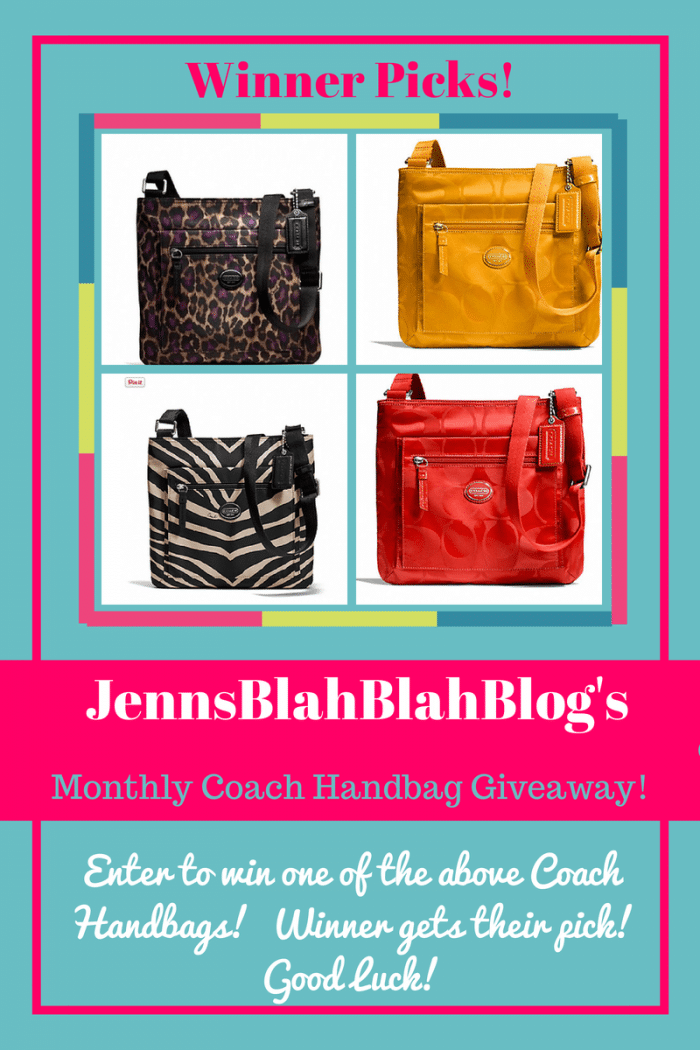Monthly Coach Handbag Fan Appreciation Giveaway!