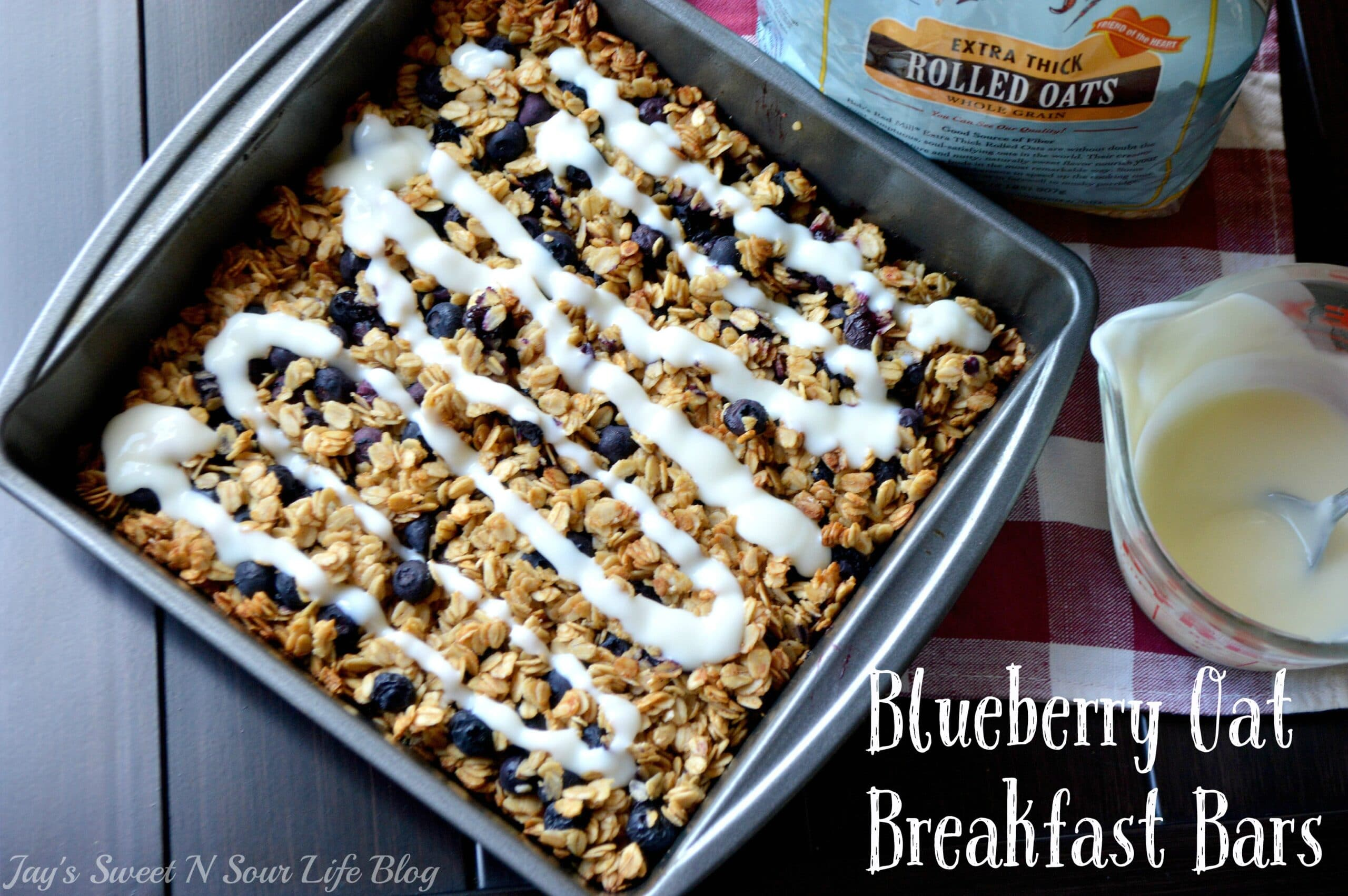 Blueberry Oat Breakfast Bars