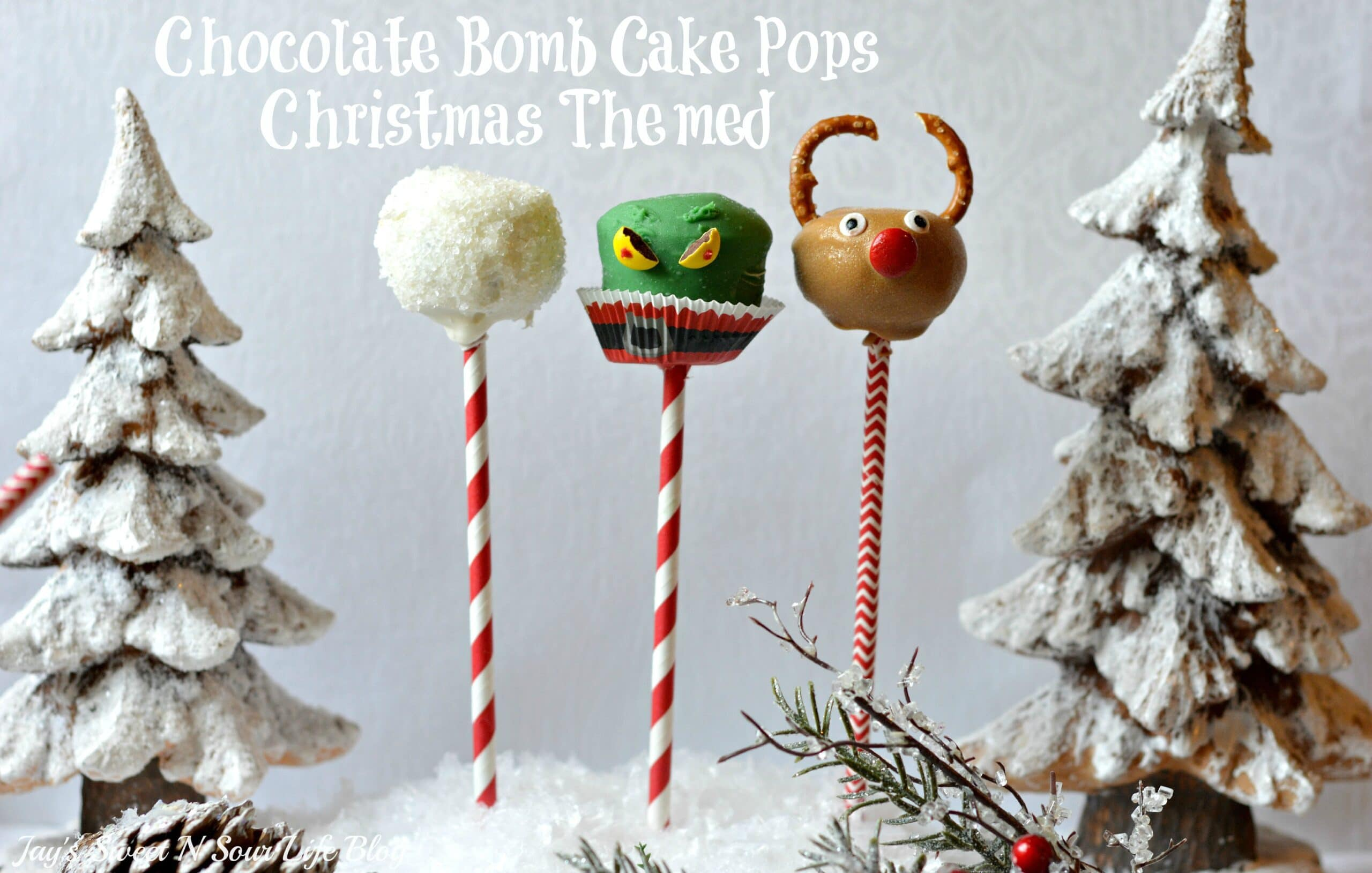 These Chocolate Bomb Cake Pops will melt in your mouth, perfect for holiday parties and get-togethers. These easy-to-make Christmas cake pops are made using a boxed cake mix, and a secret ingredient.
