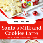 Santa's Milk and Cookies Latte. Treat Santa to his very own Santa's Milk and Cookies Latte, paired with a buttery snowflake cookie perfect for dipping. No milk frother needed, this delicious sugar cookie flavored latte and snowflake cookies make the perfect holiday treat duo.