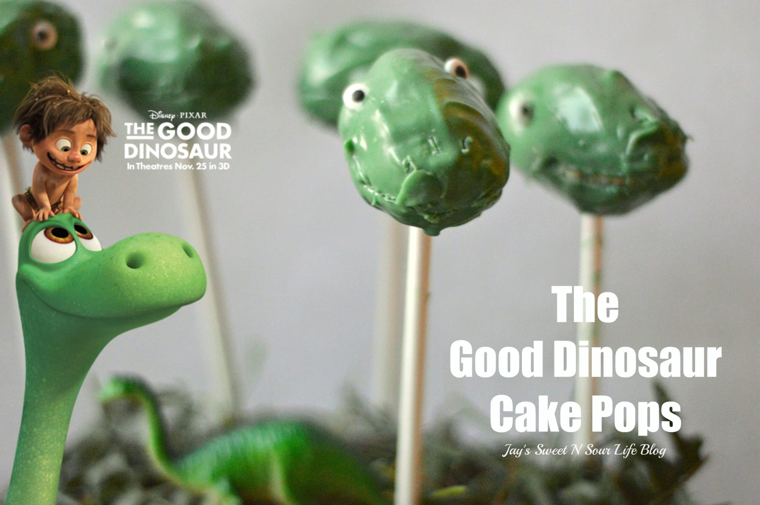 The Good Dinosaur Cake Pop's