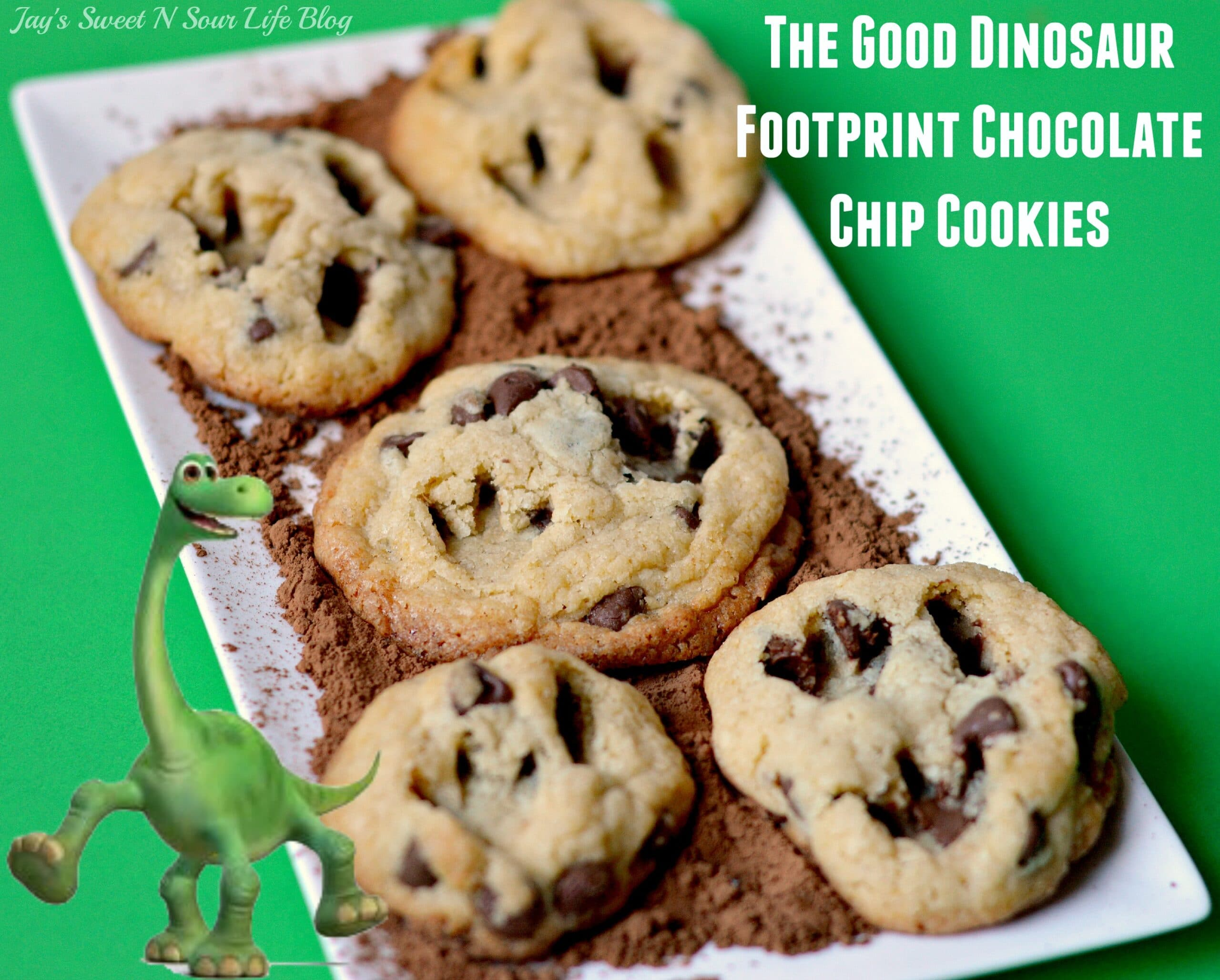 The Good Dinosaur Footprint Chocolate Chip Cookies