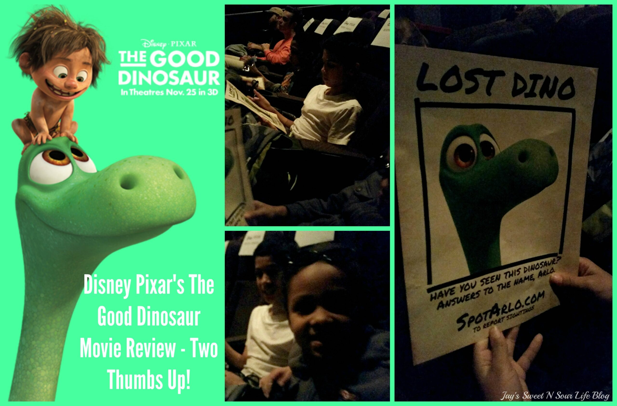 Disney Pixar's The Good Dinosaur Movie Review – Two Thumbs Up!