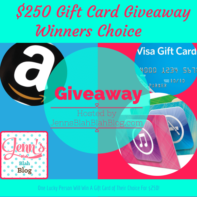 The $250 Winners Pick It Gift Card Giveaway