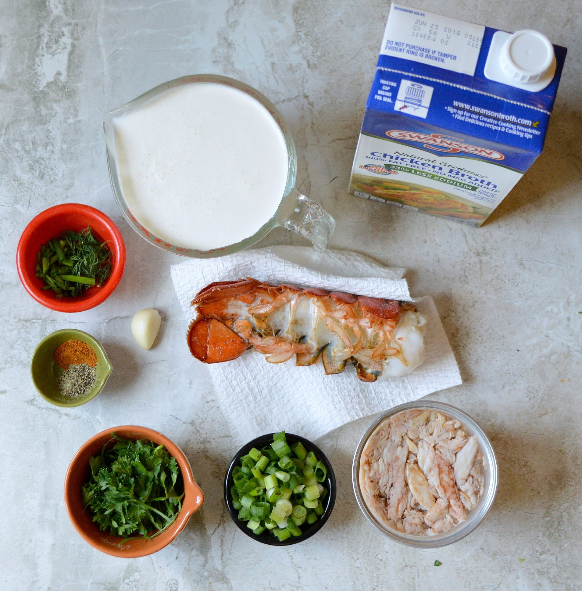 Lobster Bisque Ingredients. A smooth and creamy Slow Cooker Lobster Bisque Soup that's always a family favorite. It's a creamy and spicy soup that uses lobster tails for a flavorful rich bisque. Your family won't believe you made this decadent soup in a crock-pot!