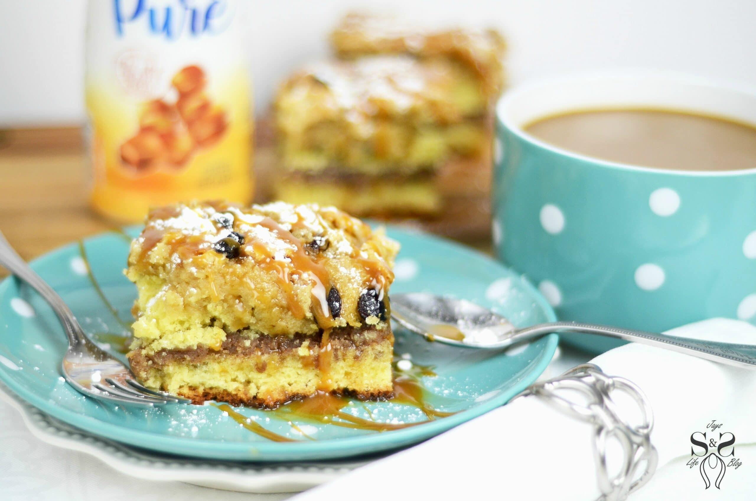 Cinnamon Coffee Cake with Salted Caramel