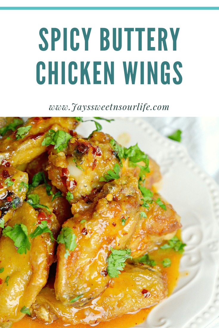 Spicy Buttery Chicken Wings. Perfect for any night, these Thai inspired Spicy Buttery Chicken Wings are so easy to make and oh so delicious.