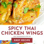 Perfect for any night, these Spicy Thai Chicken Wings are easy to make and full of flavor. Made with fresh garlic, butter, and Thai spices, this finger-licking chicken wing recipe is an instant family favorite.