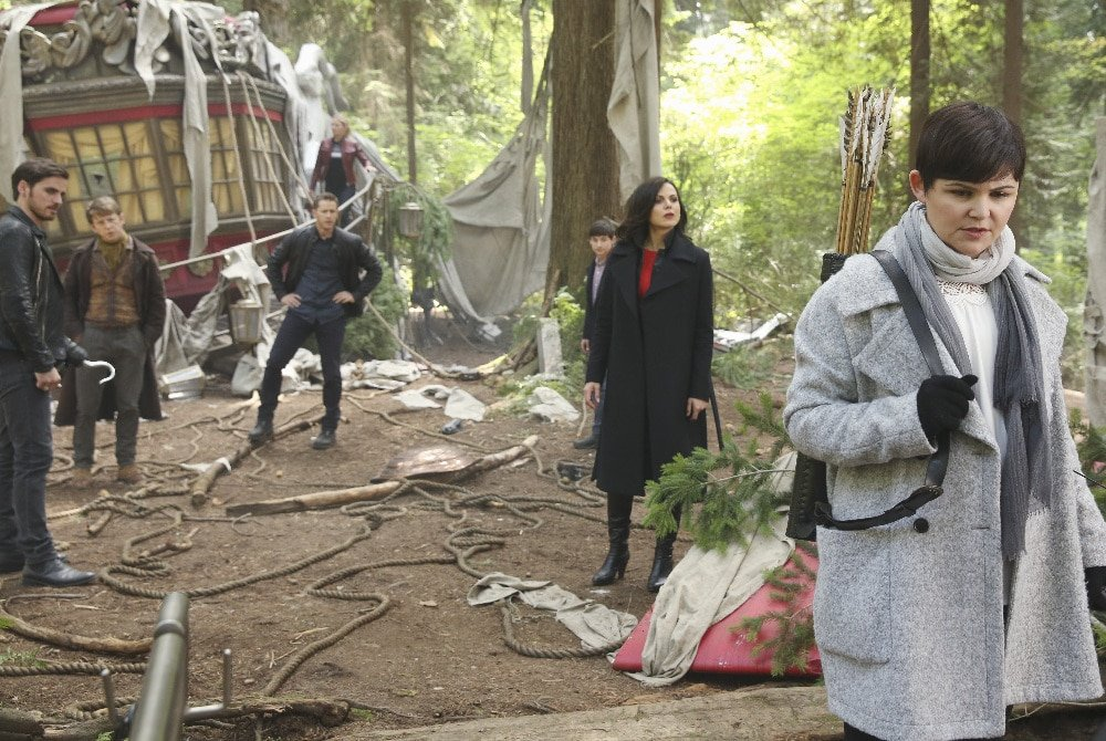 "ONCE UPON A TIME - ""The Savior"" - As ""Once Upon a Time"" returns to ABC for its sixth season, SUNDAY, SEPTEMBER 25 (8:00-9:00 p.m. EDT), on the ABC Television Network, so does its classic villain-the Evil Queen. (ABC/Jack Rowand) COLIN O'DONOGHUE, HANK HARRIS, JOSH DALLAS, JENNIFER MORRISON, JARED S. GILMORE, LANA PARRILLA, GINNIFER GOODWIN"