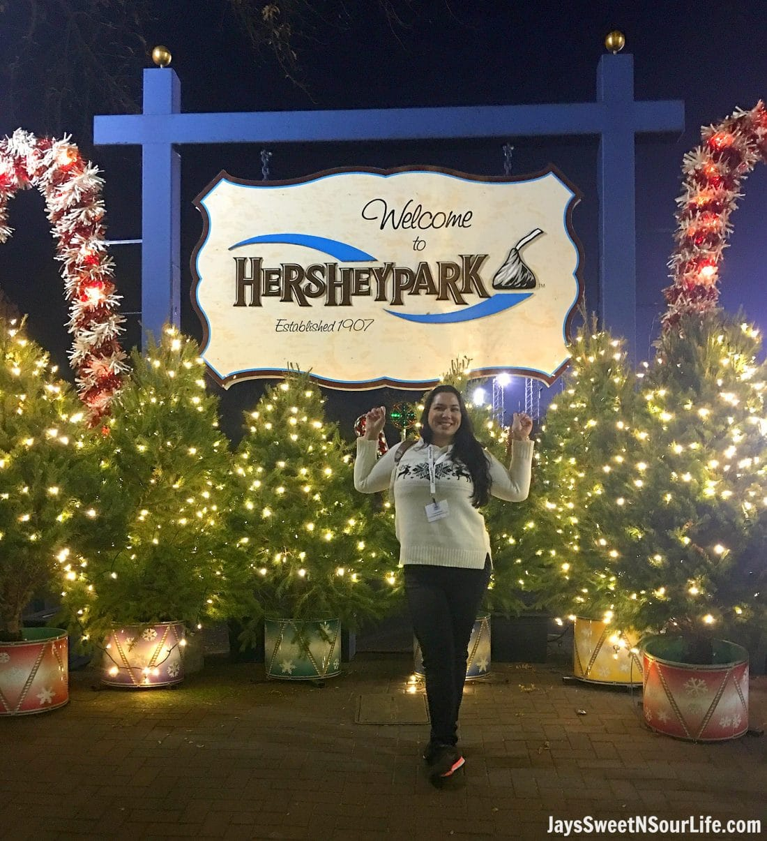Visit Hershey Park to ride their amazing rides and experience Christmas in a world of chocolate.