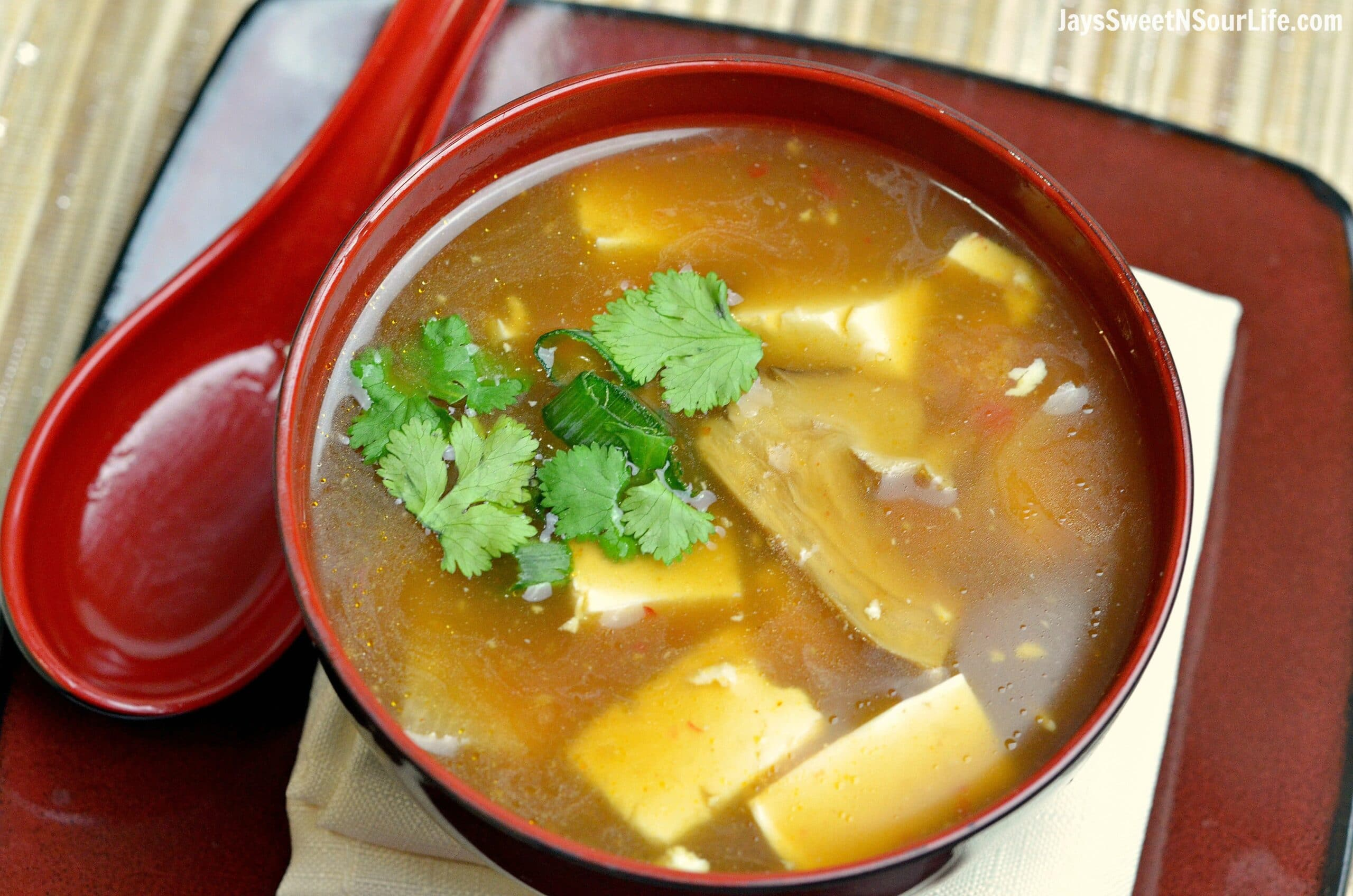 Chinese Hot and Sour Soup. Enjoy a warm bowl of Instant Pot Hot and Sour Soup with the family. Made with or without your favorite tofu, this meatless traditional Chinese soup is an easy weeknight dinner option. Inside of a flavorful hot and sour broth, you will find bamboo shoots, fresh cilantro, and more.