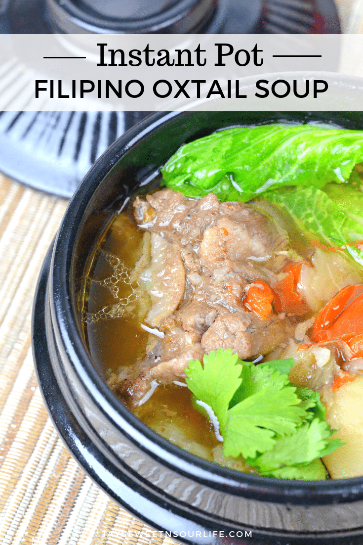 Instant Pot Filipino Oxtail Soup. This fall off the bone Pressure Cooker Filipino Oxtail Soup Recipe will surely please your family. A delicious soup broth with tender juicy Oxtail meat.