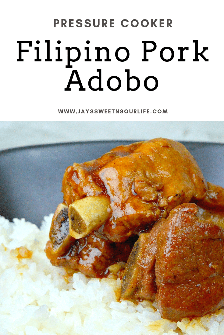 Filipino Pork Adobo. This fall of the bone Pressure Cooker Filipino Pork Adobo is to die for. Try my families secret recipe and taste what we have been cooking for generations.