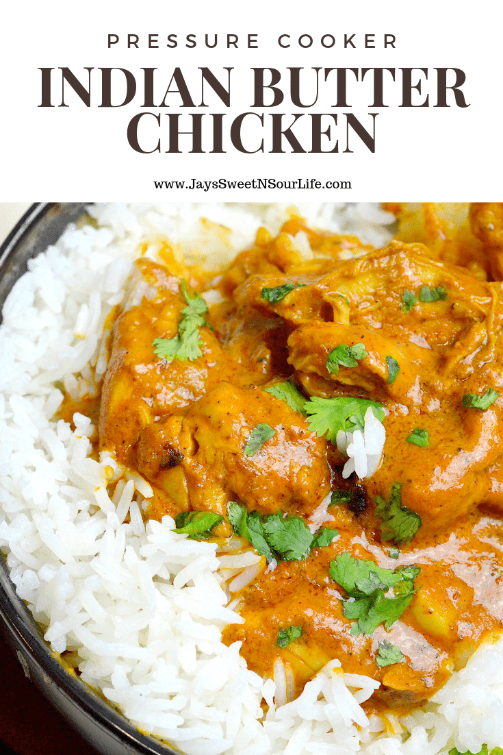 Calling all of my curry lovers! Pressuer Cooker Indian Butter Chicken is a buttery chicken that is smothered in a creamy tomato based sauce. This crowd pleasing dish will have your home smelling like your favorite Indian Restaurant.