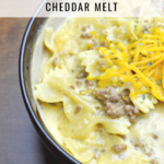 Copycat Hamburger Helper Cheddar Melt. This creamy and delicious Pressure Cooker Copycat Hamburger Helper Cheddar Melt will knock your family's socks off and keep them coming for more.