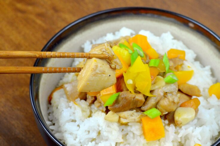 An easy, better than takeout Pressure Cooker Orange Chicken recipe, featuring fresh vegetables, oranges, chicken, traditional Chinese sauces, and spices. This easy instant pot dinner recipe is the perfect weeknight dinner for busy families.