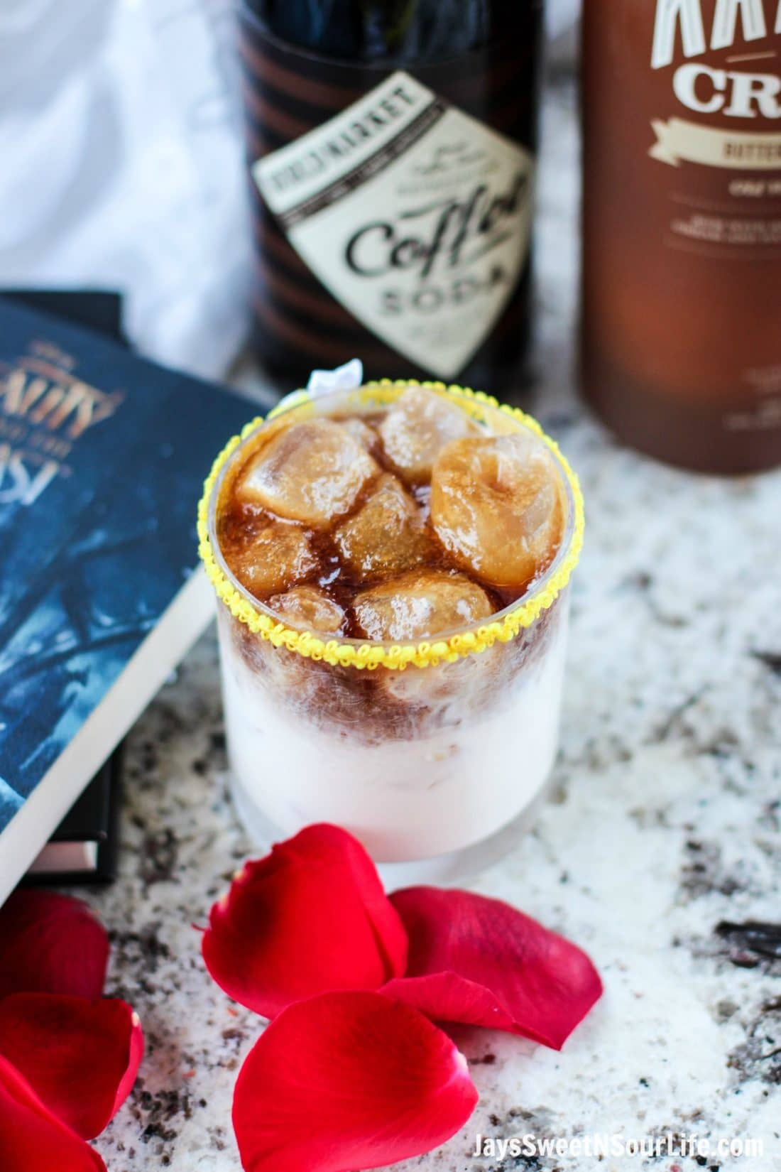Beauty and the Beast Cocktails. Break the curse with this Disney inspired Beauty and the Beast Cocktail. Made with layers of Kringle Cream Liqueur and Coffee Soda, this simple but elegant cocktail recipe delivers a delicious big flavor.