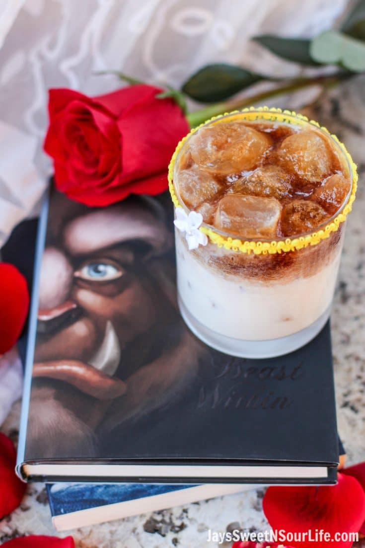 Beauty and the Beast Cocktail. Break the curse with this Disney inspired Beauty and the Beast Cocktail. Made with layers of Kringle Cream Liqueur and Coffee Soda, this simple but elegant cocktail recipe delivers a delicious big flavor.
