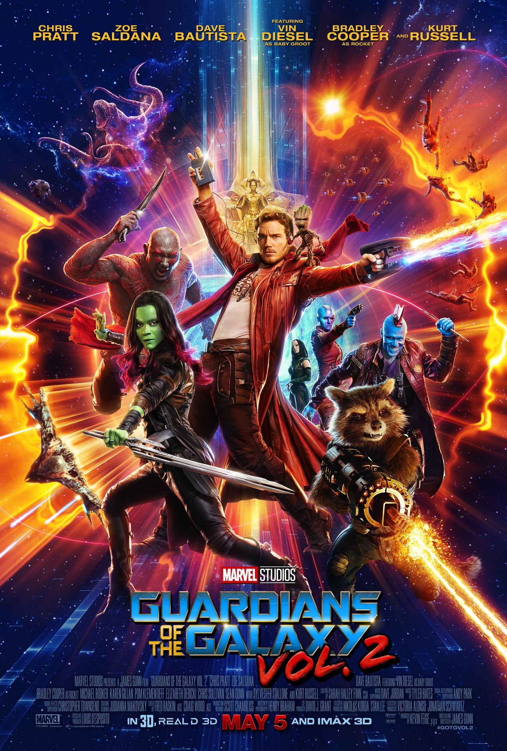 GUARDIANS OF THE GALAXY VOL. 2 – Special Look and Character Posters Now Available!