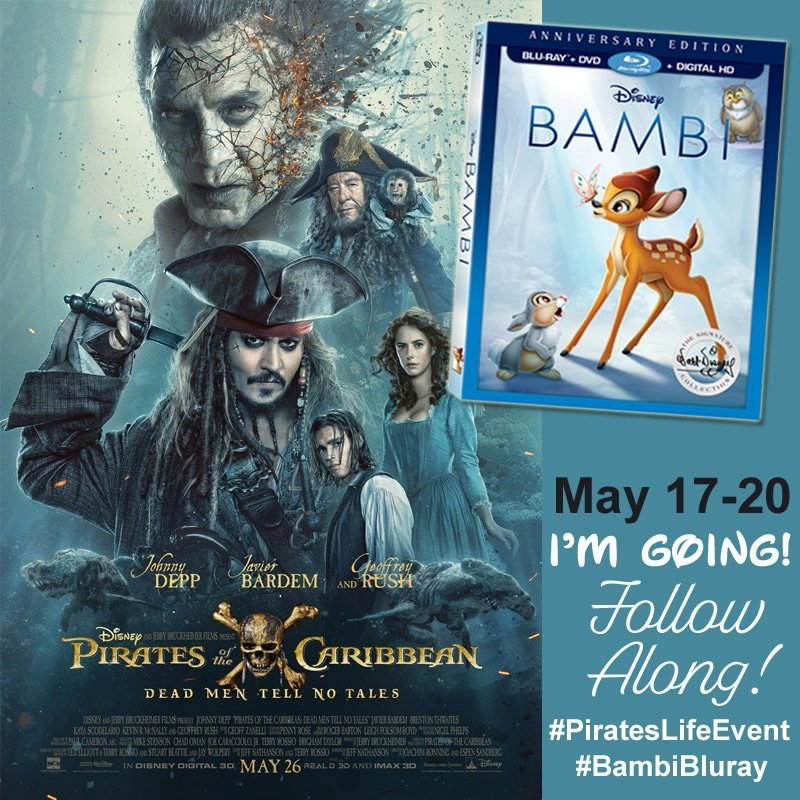 I'm Headed To LA For The #PiratesOfTheCaribbean: DEAD MEN TELL NO TALES Premiere! #BambiBluray #PiratesLifeEvent