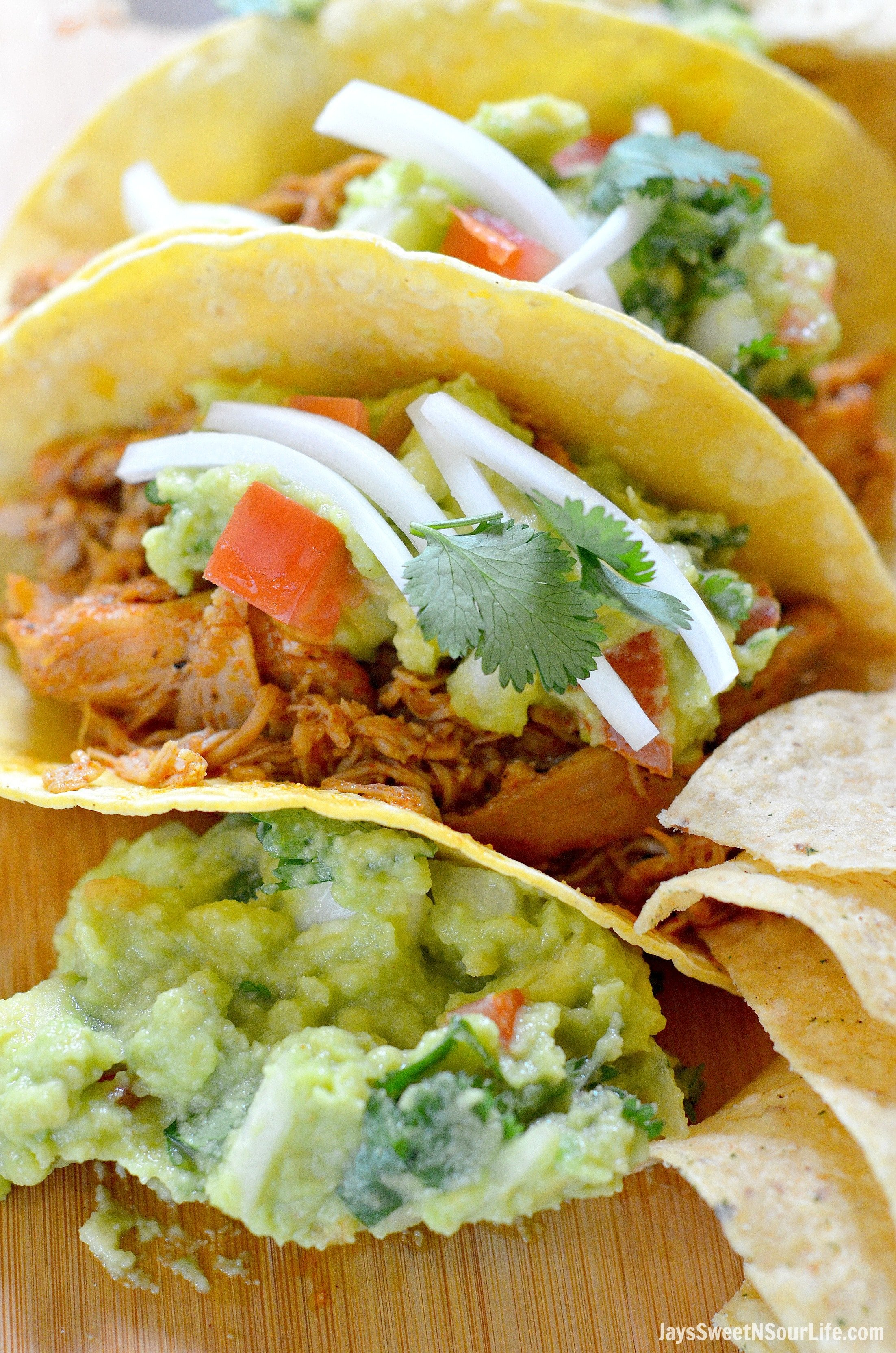Chicken Tacos with Homemade Guacamole