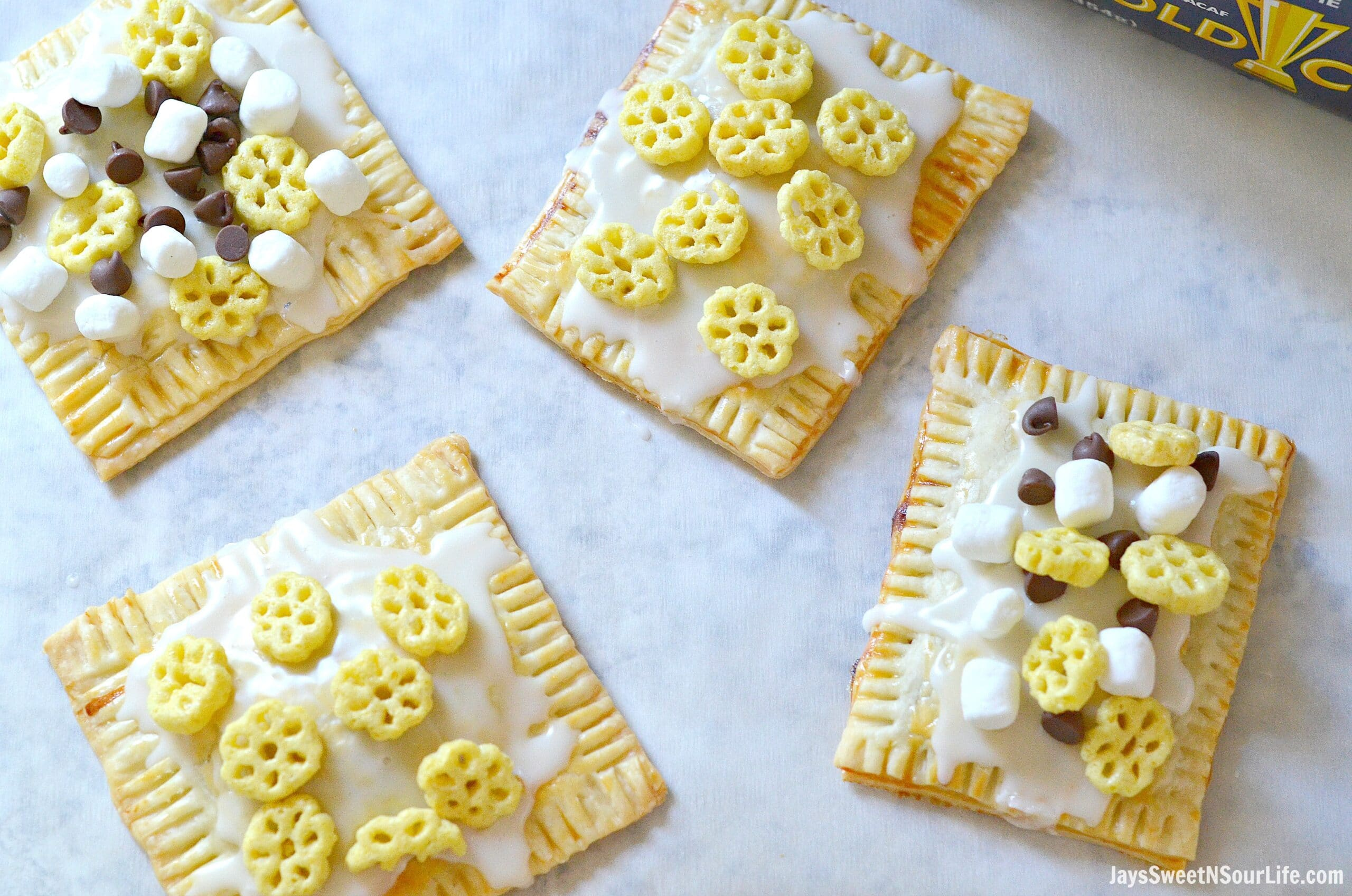 Homemade Honeycomb Cereal Pop Tarts – Think Biggerer Back To School Ready