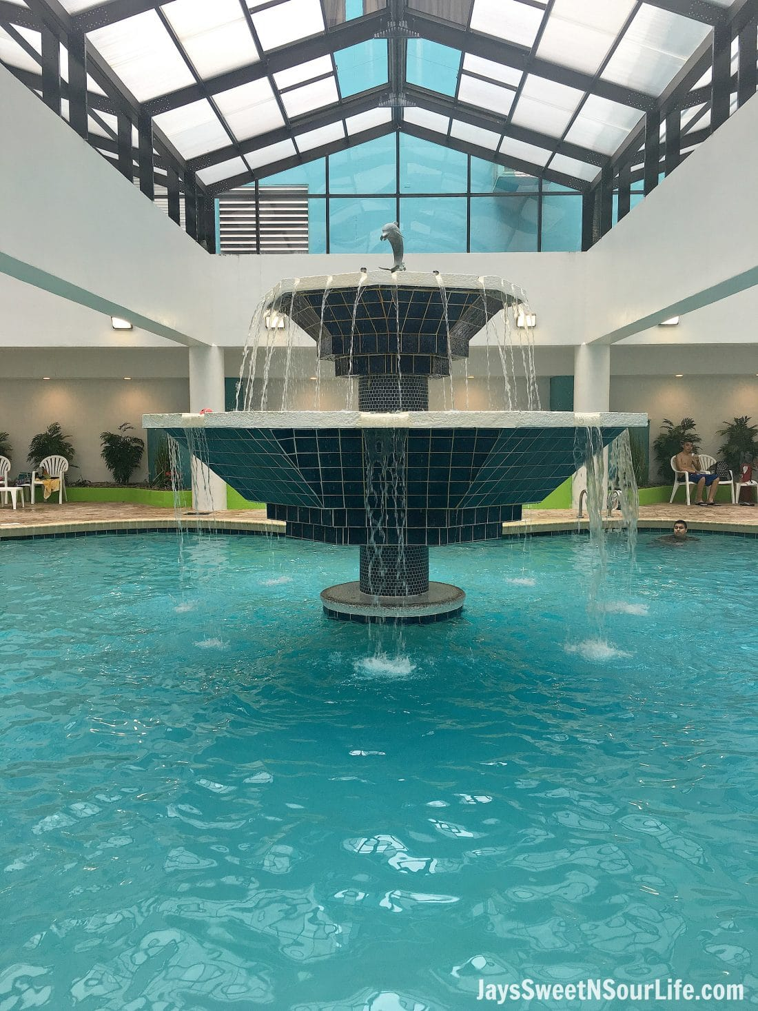 ENjoy one of the many indoor pool areas inside of The Landmark Resort in Myrtle Beach.