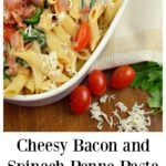 Cheesy Bacon . and Spinach Penne PastaTreat your family this holiday season with a deliciously easy to make Cheesy Bacon and Spinach Penne Pasta. Perfect for any dinner time during the year. Shared via Jays Sweet N Sour Life.