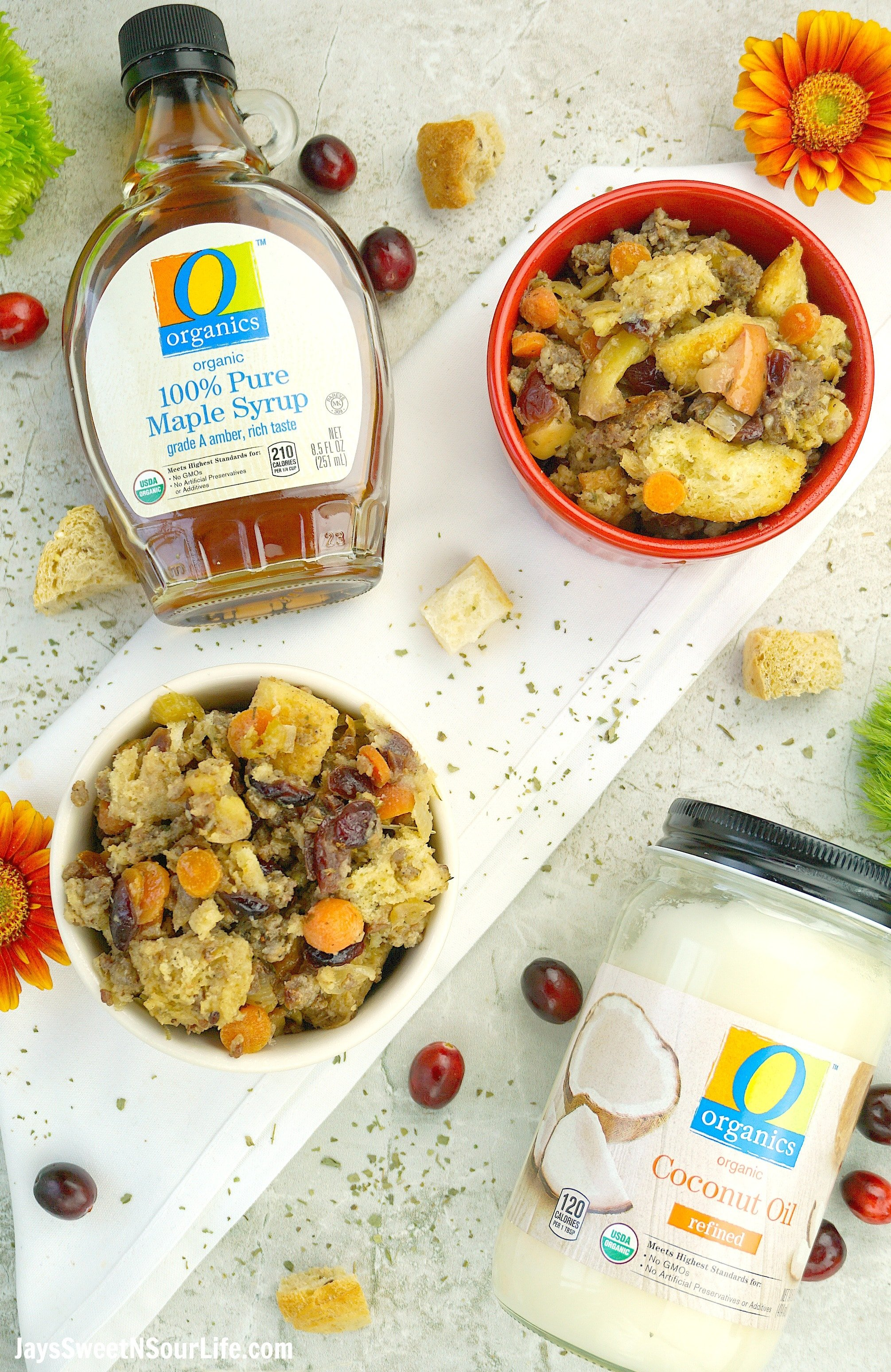 Maple Cranberry Apple Stuffing