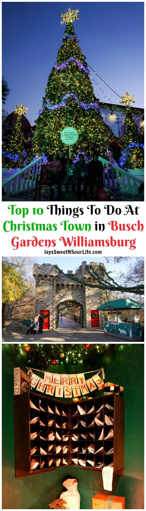 Top 10 Things To Do At Christmas Town In Busch Gardens Williamsburg Jays Sweet N Sour Life