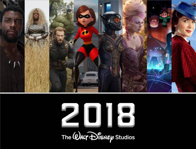 2018 Walt Disney Studios Movie Slate.