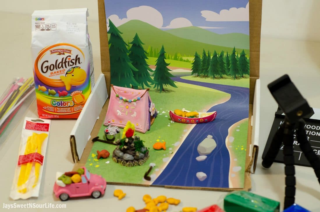 Creating Goldfish Tales with your kids are a fun way to spend your afternoons together. Create a stop motion video and share your families story. After you have come up with your story idea find all the tools you need to bring this story alive.