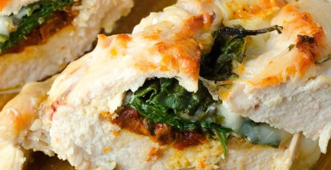 Sundried Tomato, Spinach and Cheese Stuffed Chicken – Lemon Butter Sauce
