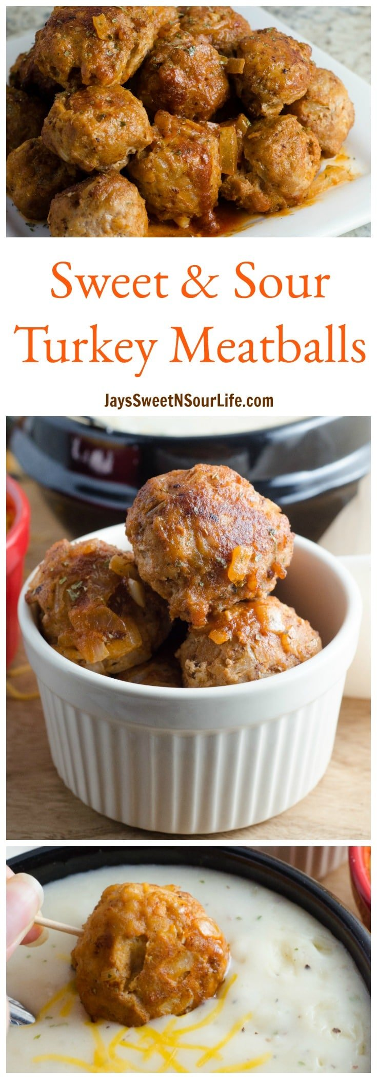 Sweet and Sour Turkey Meatballs