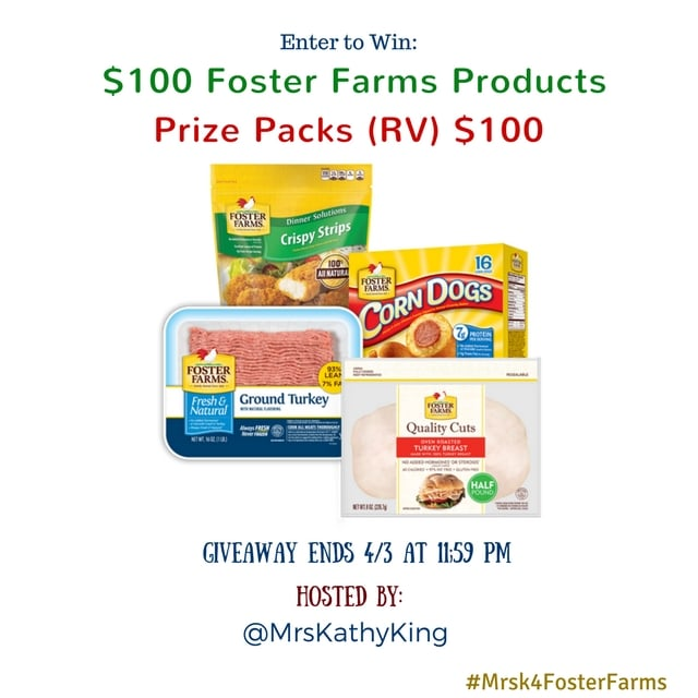 $100 Foster Farms Gift Pack Giveaway – Ends April 3!