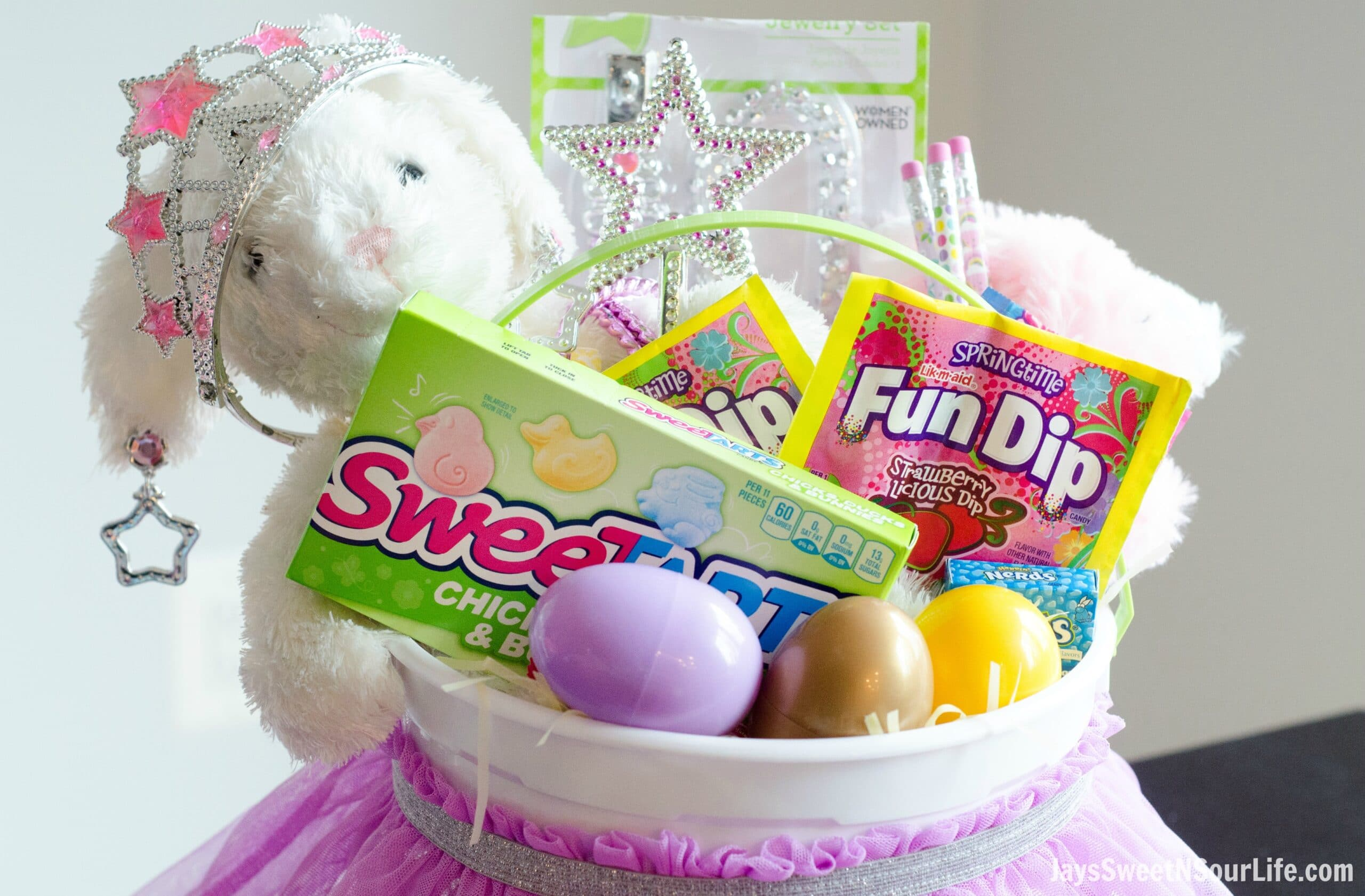 This Princess Easter Basket comes equippted with everything your Princess needs. Packed with princess necessities and Nestle candy of course.