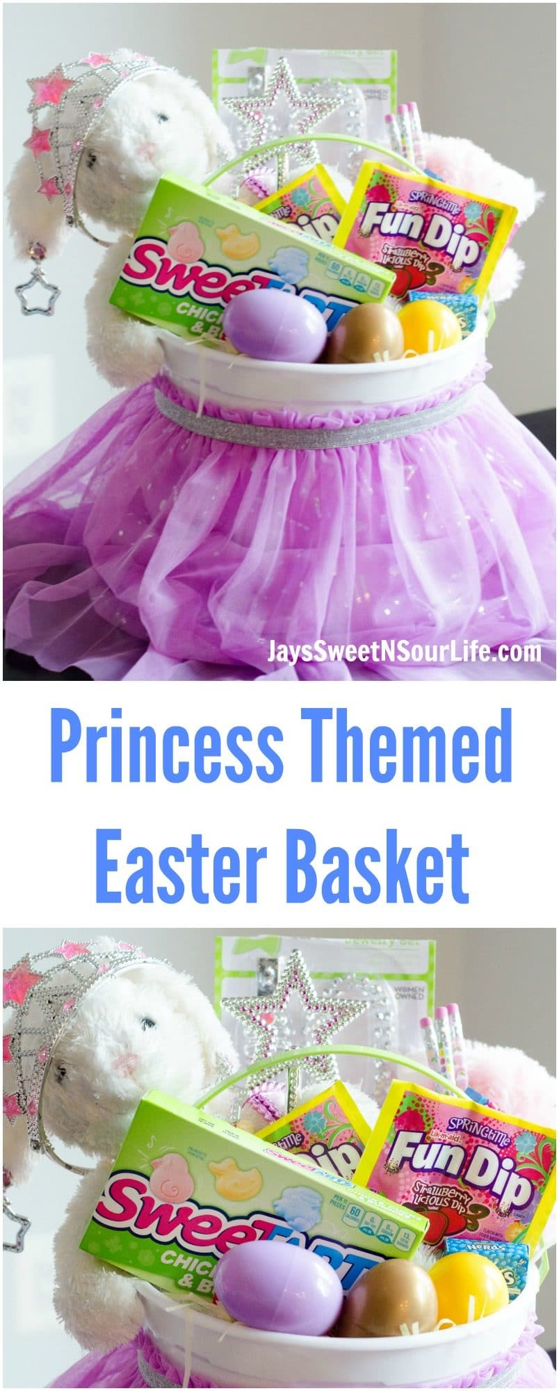 This Princess Easter Basket comes equipped with everything your Princess needs. Packed with princess necessities and candy of course.