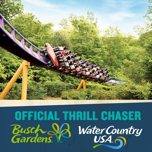 2018 Busch Gardens Williamsburg Thrill Chaser Badge. 2018 Busch Gardens Thrill Chaser Ambassador.