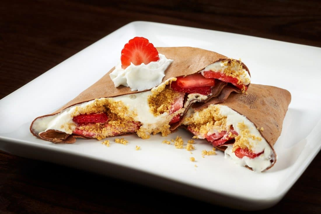 A sweet treat of a stuffed crepe at the Busch Gardens 2018 Food and Wine Festival. A tasty adventure awaits culinary explorers during Busch Gardens® Food & Wine Festival May 25 – July 1